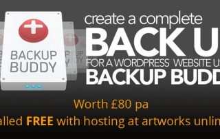 Get BackupBuddy FREE with hosting at artworks unlimited