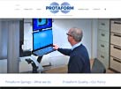 Protaform Springs web design by artworks unlimited
